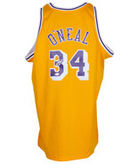 Shaquille O'Neal Signed Yellow L.A. Lakers Mitchell & Ness Basketball Je... - $329.79