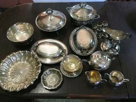 F B Rogers 7 Piece Silver Plate Tea Service - $100.00