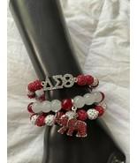 Delta Sigma Theta Bling Beaded Charm Bracelet Set - £13.99 GBP