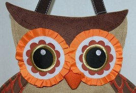 FabriCreations 2236 Fall Greetings Fabric Owl Sculpted Appliqued Embroidered image 2