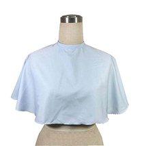 Beauty Salon Client Short Gown Waterproof Coloring Dye Cape Smock with Belt, Blu