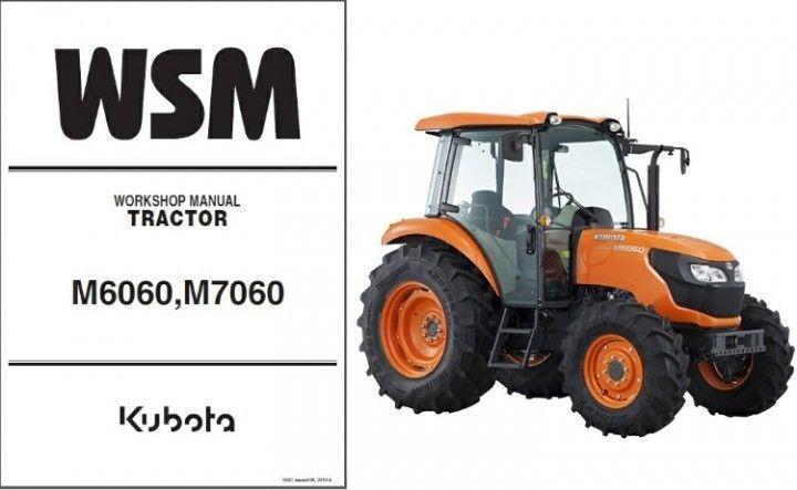 Kubota M108S Tractor WSM Service Workshop Manual CD