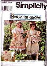 Simplicity  Pattern 7029 DAISY KINGDOM Pinafore, Dress & Doll Dress Sz 5-8 - $10.99
