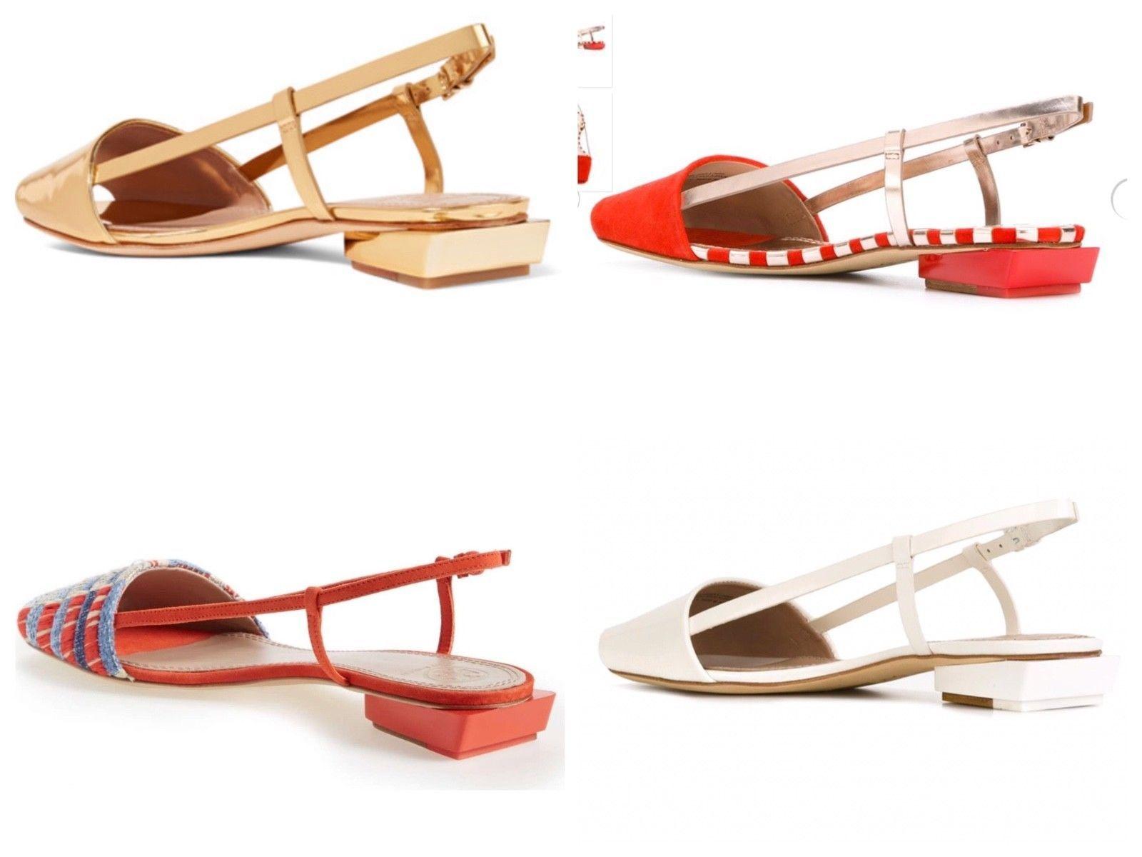 Tory Burch Pietra Leather Runway Flat Sandal Retail: $350