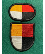 3rd SPECIAL FORCES GROUP (AIRBORNE), BERET FLASH AND PARACHUTIST OVAL - $7.87
