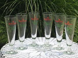Set of 6, vintage, Budweiser King of Beers, Holiday pilsner glasses - $30.00