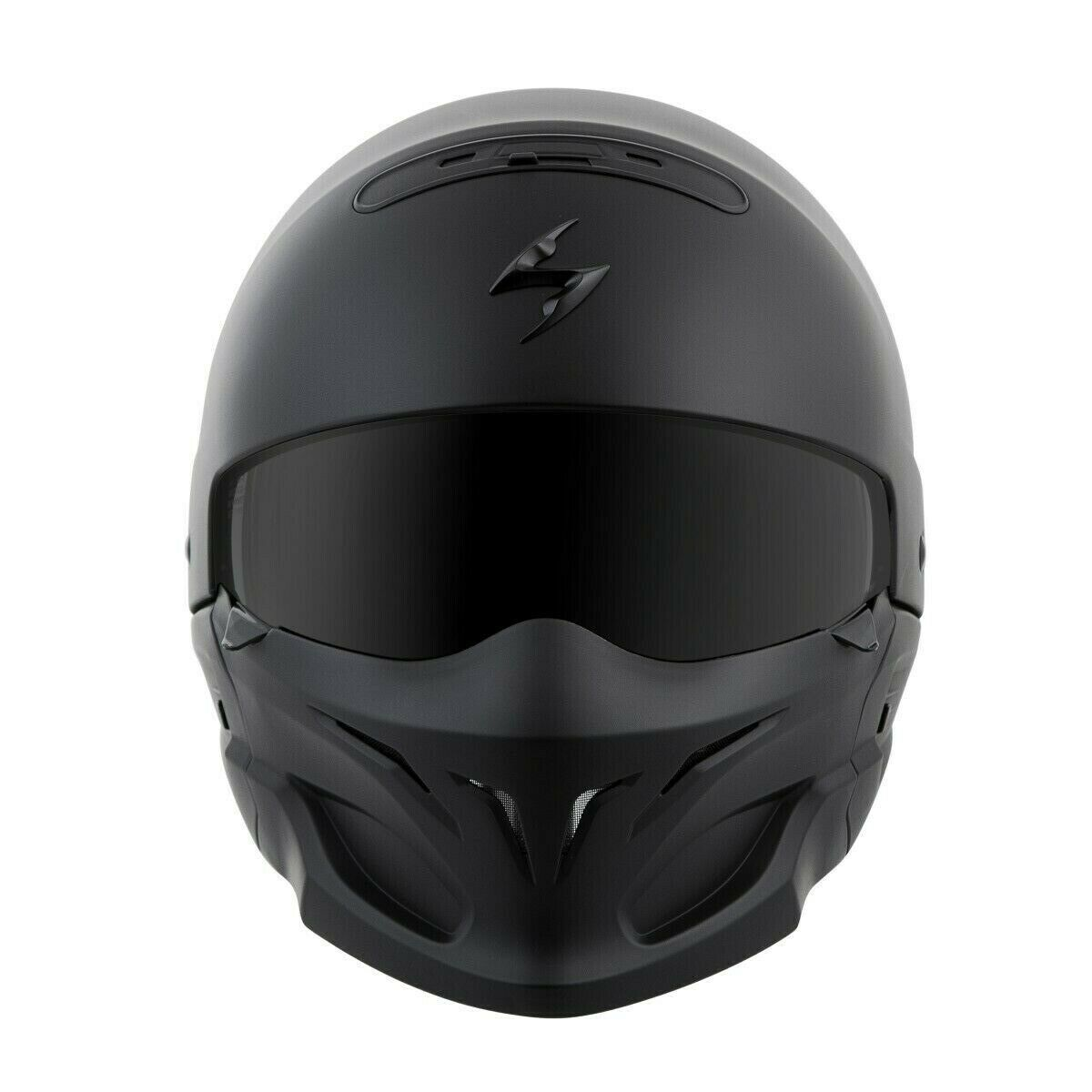 New Size XL Scorpion EXO Covert Matt Black 3 in 1 Motorcycle Helmet DOT