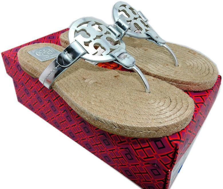 77978996135b2 7482. 7482. Previous. Tory Burch Miller Thongs Espadrilles Shoes Flip Flops  9.5 Slides Mules Sandals