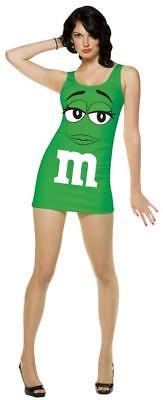 M&M Womens Dress Costume Candy Green Adult Halloween Party Unique GC4043