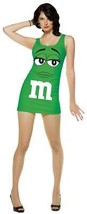 M&M Womens Dress Costume Candy Green Adult Halloween Party Unique GC4043 - $49.99