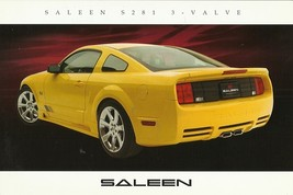 2006 Saleen S281 3-VALVE sales brochure catalog card sheet Mustang 06 - $9.00