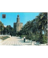 Spain Postcard Sevilla Contadero Promenade & Torra del Oro - $2.16