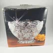 Lead Crystal Bowl Hand Cut Collectors Crystal Galleries Fairfield German... - $23.95