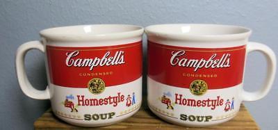 Set of 2 Vintage Campbell's Soup Mugs Homestyle 1989  Westwood  Korea 14 Oz