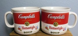 Set of 2 Vintage Campbell's Soup Mugs Homestyle 1989  Westwood  Korea 14 Oz - $19.00