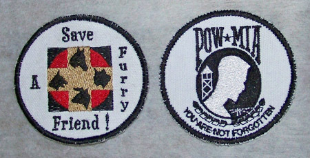Embroidered custom patches stable business rescue  political