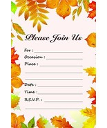 Fall Leaves Fill in Invitations - Wedding, Bridal Shower, Baby Shower, E... - $10.42