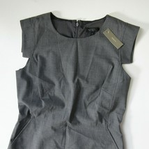 NWT J.Crew 365 Resume Sheath in Heather Flannel Gray Stretch Wool Dress ... - $77.90
