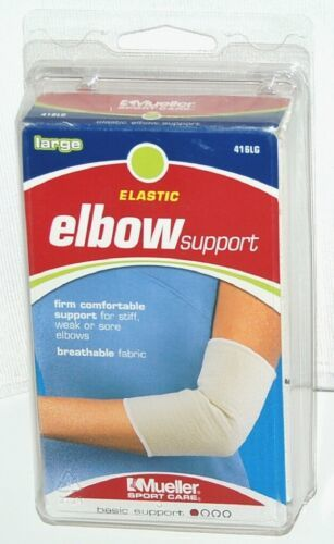Mueller 416LG Elastic Elbow Support Size Large Color White