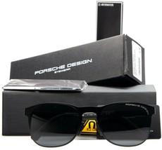 NEW PORSCHE DESIGN P'8578 F CAL 3 MATTE BLACK RUBBERIZED /GRAY LENS SUNG... - $247.49
