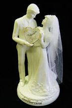 "Enesco ""LOVE, HONOR, CHERISH"" Porcelain Wedding Couple Figurine w/ Plate 1996 - $22.99"