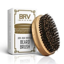 Beard Brush | 100% Pure Boar Bristles | First Cut Firm Hog Hair Brush Natural So