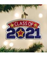 OLD WORLD CHRISTMAS CLASS OF 2021 GRADUATION GLASS CHRISTMAS ORNAMENT 36284 - $13.88
