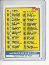 (B-3) 1983 Topps #769: Checklist661-792 - Clean / Unmarked - $1.50