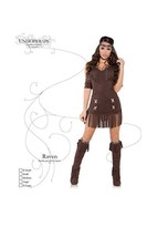 New Women's Sexy Native Princess Costume - Raven Size Medium - $22.25
