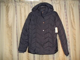 St. John's Bay Puffer Coat - Large Black - New With Tags - €40,16 EUR
