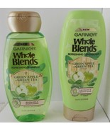 2X Garnier Whole Blends Shampoo & Conditioner Green Apple Green Tea 12.5 Oz - $9.89