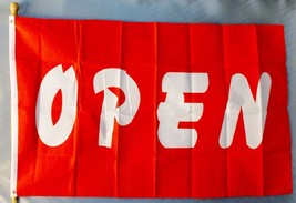 Red & White Open 3X5' Flag Message Advertising Sign Banner New - $9.85