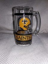 New Orleans Saints, 5.5 Inches Tall Thick Glass Beer Stein, NFL - $2.25