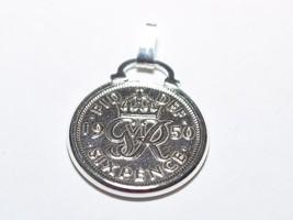 1952 65 cumpleaños seis peniques para suerte moneda charm colgante - 65 - $20.64