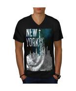 New York City Liberty USA Shirt American USA Men V-Neck T-shirt - $12.99+