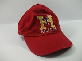 Tommy Hilfiger TH Hat Red Strapback Baseball Cap - $22.76