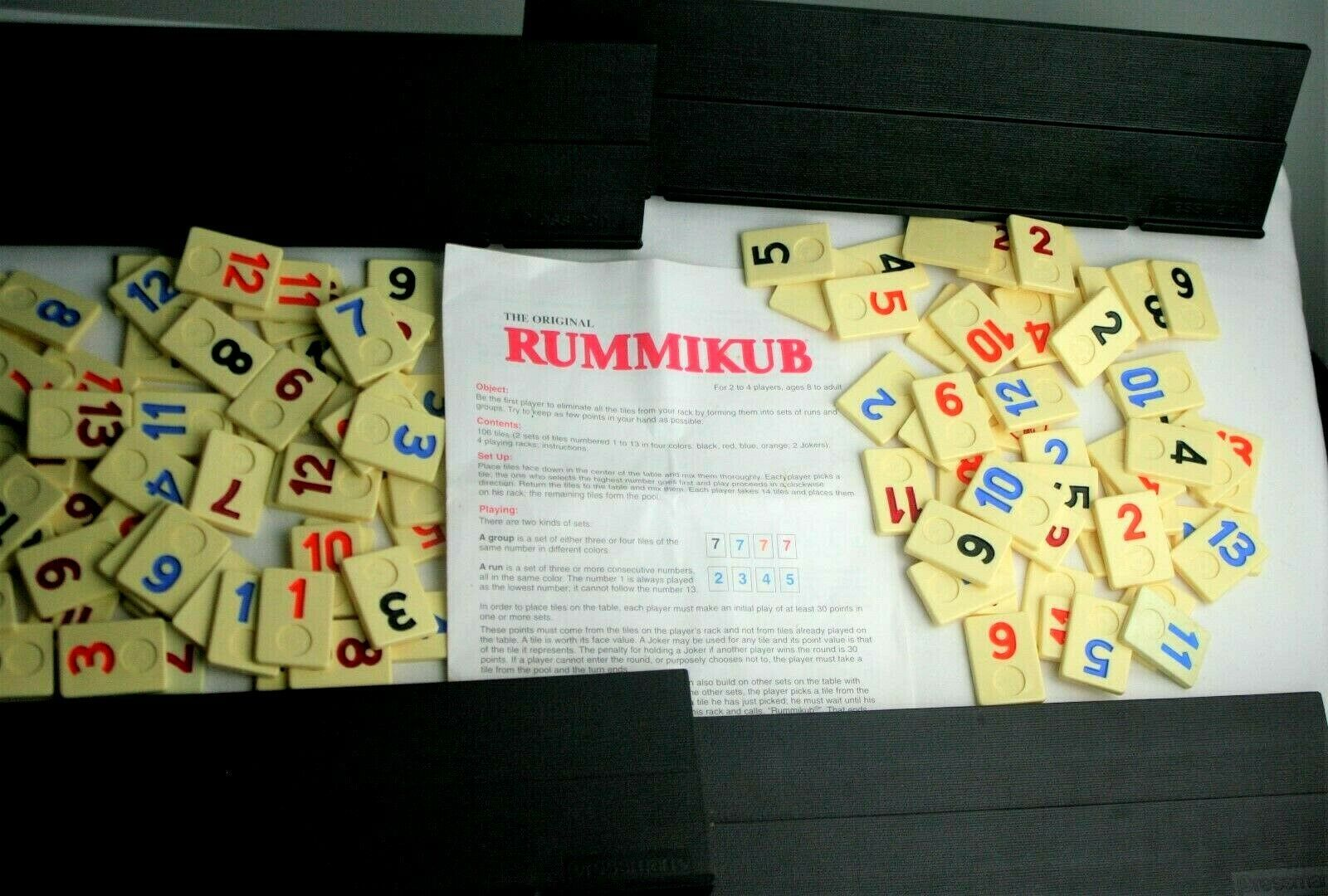 Primary image for Rummikub Tile Game Pressman 1990 Vintage Board Rummy Cube Incomplete Parts