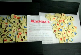 Rummikub Tile Game Pressman 1990 Vintage Board Rummy Cube Incomplete Parts - $9.49