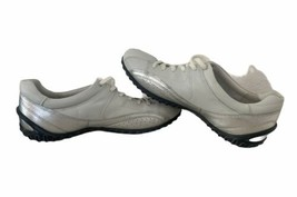 ECCO Life Women's Sneakers Size 40 US 9 9.5 Silver White Soft Leather Shoes - $23.03