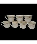 Lot of 7 Vintage Superware Melamine Floral Coffee Tea Mugs C514-3.25 - $23.76