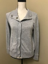 Gap Maternity Grey Heather Cotton-Wool Blend Cardigan Sweater Snap Buttons Sz S - $21.28