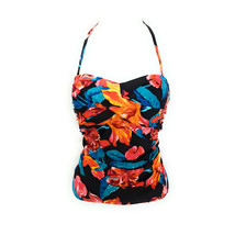 Heat Swimwear Bandeau Tankini, Garden Shores, Small - $89.09
