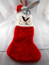 "Vintage 1993 Warner Bros BUGS BUNNY Large Plush 26"" Christmas Stocking b... - $14.84"