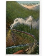 Railroad Train Oriental Limited Great Northern Horseshoe Tunnel WA postcard - $6.93