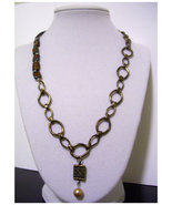 Vintage Style Brass Classic Style Chain and Bea... - $15.00