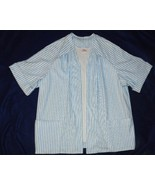 Lady Graff White Blue Striped  Size 1X Skirt and Jacket - $14.99