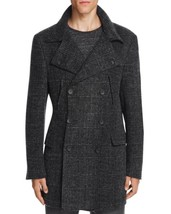 $1195.00 Hickey Freeman Felted Wool Houndstooth Topcoat Charcoal  Size 42 - $593.01