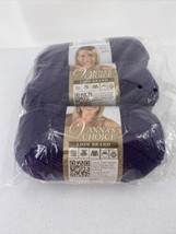 3 Skeins Lion Brand Vanna's Choice Yarn-Purple, 860-147 - $9.49