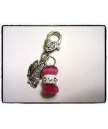 Silver Butterfly Beaded Zipper Pull, Keychain, ... - $6.00