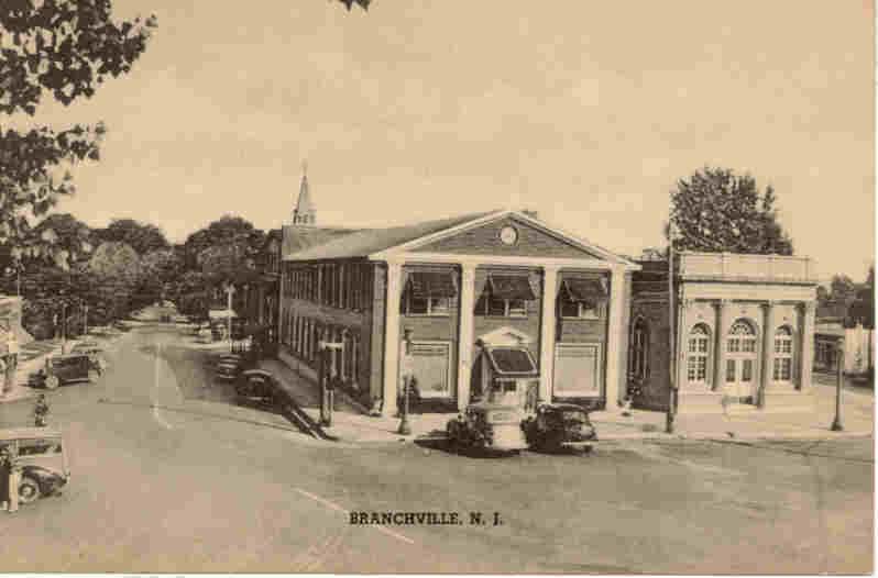 Branchville New Jersey Vintage 1930s Post Card